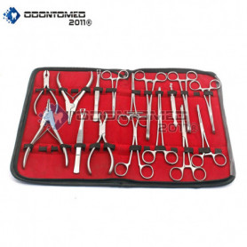 OdontoMed2011® SET 16 PIECES BODY EAR LIP FORCEPS PLIERS CLAMPS TOOLS ODM