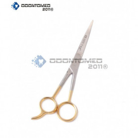"""Odontomed2011 Professional Barber Hair Dressing 6.5"""" Hair Cutting Scissors/barber Shears - Tempered - Steel Gold Plated ODM"""
