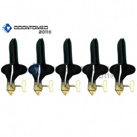 OdontoMed2011® Set of 5 Pieces Collin Speculum Medium Tactical All Black Coated ODM