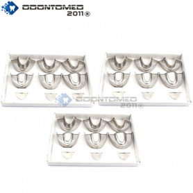 OdontoMed2011® 3 Set Of 6 Pieces Dental Impression Trays Baby Solid Denture Instruments Stainless Steel ODM